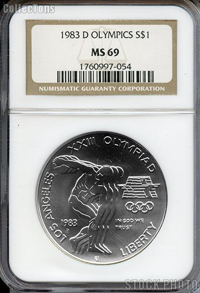 1983 D Discus Thrower Olympic Commemorative Uncirculated