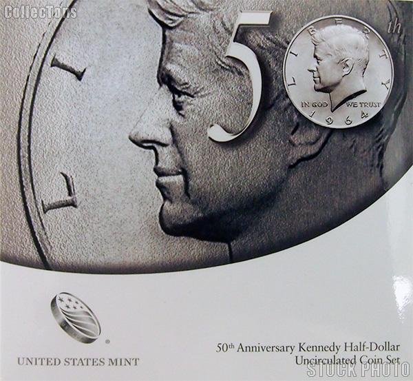 2014 P&D Kennedy Half Dollar 50th Anniversary Edition Uncirculated Coin Set