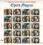 1997 American Music Series - Opera Singers 32 Cent US Postage Stamp MNH Sheet of 20 Scott #3154-#3157