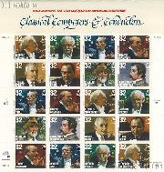 1997 American Music Series - Classical Composers and Conductors 32 Cent US Postage Stamp MNH Sheet of 20 Scott #3158-#3165