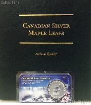 Canadian Silver Maple Leafs Starter Set Album and Coin by Littleton