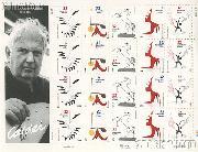 1998 Alexander Calder (1898-1976), Sculptor 32 Cent US Postage Stamp MNH Sheet of 20 Scott #3198-#3202