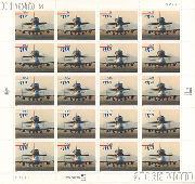 1998 Piggyback Space Shuttle $11.75 US Postage Stamp Unused Sheet of 20 Scott #3262