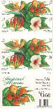 1999 Tropical Flowers 33 Cent US Postage Stamp Unused Booklet of 20 Scott #3310 - #3313