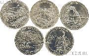 2014 National Park Quarters Complete Set Denver (D) Mint  Uncirculated (5 Coins) TN, VA, UT, CO, FL
