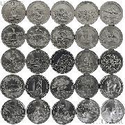 2010-2014 National Park Quarters Complete Set Denver (D) Mint  Uncirculated (25 Coins)