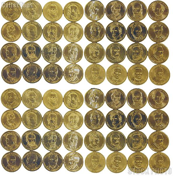 Presidential Dollars Set 2007 to 2014 P & D Brilliant Uncirculated 64 Presidential Dollar Coins