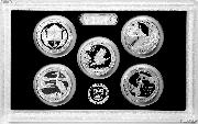 2015 SILVER QUARTER PROOF SET * 5 Coin U.S. Mint Proof Set