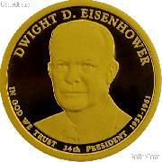 2015-S Dwight D. Eisenhower (Ike) Presidential Dollar GEM PROOF Coin