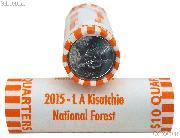 2015-D Louisiana Kisatchie National Forest National Park Quarters Bank Wrapped Roll 40 Coins GEM BU