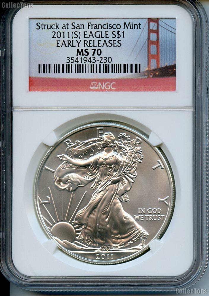 2011 S American Silver Eagle Dollar In Ngc Quot Struck At