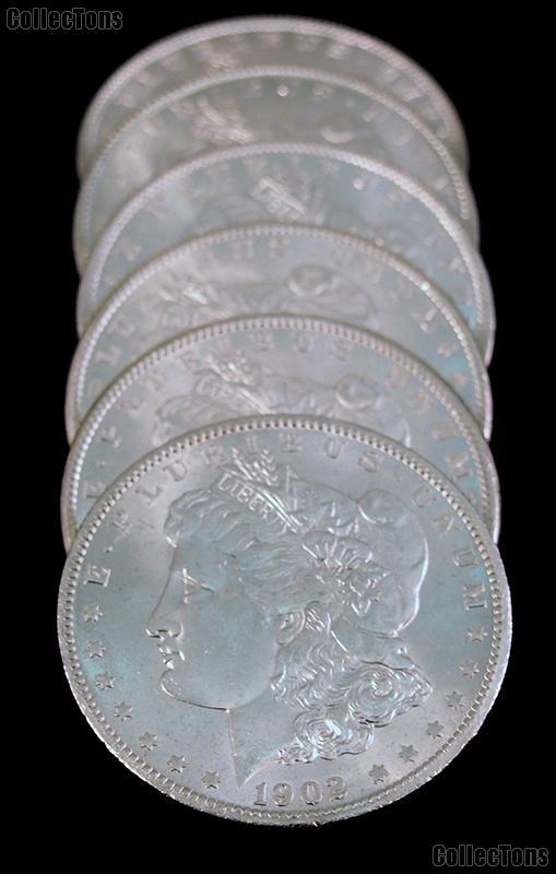 1902-O BU Morgan Silver Dollars from Original Roll