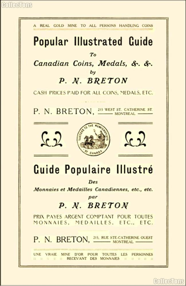 1912 Illustrated Guide to Canadian Coins, Medals & Tokens by P.N. Breton