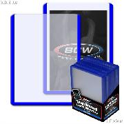 Blue Border Topload Card Holder 3 x 4 - Pack of 25 by BCW