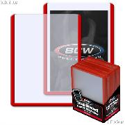 Red Border Topload Card Holder 3 x 4 - Pack of 25 by BCW