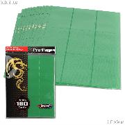 18-Pocket Side Loading Pro Pages Green by BCW Pack of 10