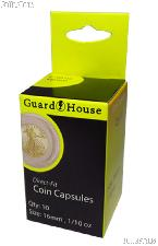 Guardhouse Box of 10 Coin Capsules for 1/10 oz GOLD EAGLES (16.5mm)