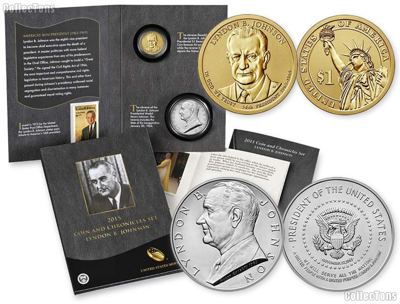 2015 Lyndon B. Johnson Coin and Chronicles Set