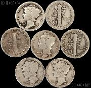 1916 Mercury Silver Dime - Lower Grade