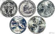 2015 National Park Quarters Complete Set Denver (D) Mint  Uncirculated (5 Coins) NE, LA, NC, DE, NY