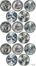 2015 National Park Quarters Complete Set P & D & S Uncirculated (15 Coins) NE, LA, NC, DE, NY