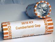 2016 P & D Kentucky Cumberland Gap National Historical Park Quarter Rolls GEM BU America the Beautiful