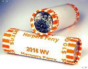 2016 P & D West Virginia Harpers Ferry National Historical Park Quarter Rolls GEM BU America the Beautiful