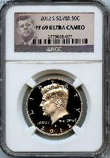 2012-S SILVER Kennedy Half Dollar in NGC PF 69 Ultra Cameo