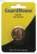 Guardhouse Coin Capsule Direct Fit Coin Holder for QUARTERS