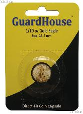 Guardhouse Coin Capsule Direct Fit Coin Holder 1/10oz GOLD EAGLE