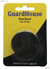 Guardhouse Coin Capsule Direct Fit Coin Holder for SILVER ROUNDS
