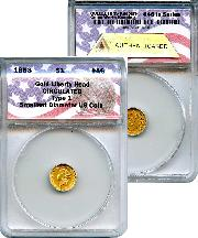CollecTons Keepers #46: 1853 Type 1 Liberty Head Gold Dollar Certified in Exclusive ANACS Holder