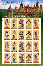 1996 American Indian Dances 32 Cent US Postage Stamp MNH Sheet of 20 Scott #3072-3076