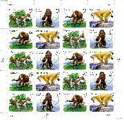 1996 Prehistoric Animals 32 Cent US Postage Stamp MNH Sheet of 20 Scott #3077-3080