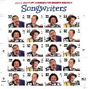 1996 Songwriters 32 Cent US Postage Stamp MNH Sheet of 20 Scott #3100-3103