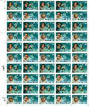 1988 Antarctic Explorers 25 Cent US Postage Stamp MNH Sheet of 50 Scott #2386-2389