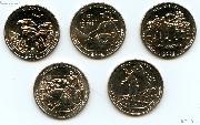 2016 National Park Quarters Complete Set San Francisco (S) Mint  Uncirculated (5 Coins) IL, KY, WV, ND, SC
