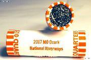 2017 P & D Missouri Ozark National Scenic Riverways Quarter Rolls GEM BU America the Beautiful