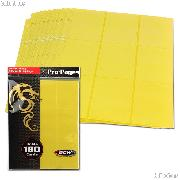 18-Pocket Side Loading Pro Pages Yellow by BCW Pack of 10