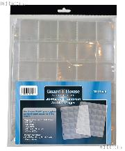 30 Pocket Thumb-Cut Coin Pages for 1.5x1.5 Holders by GuardHouse Shield - 10 Pack
