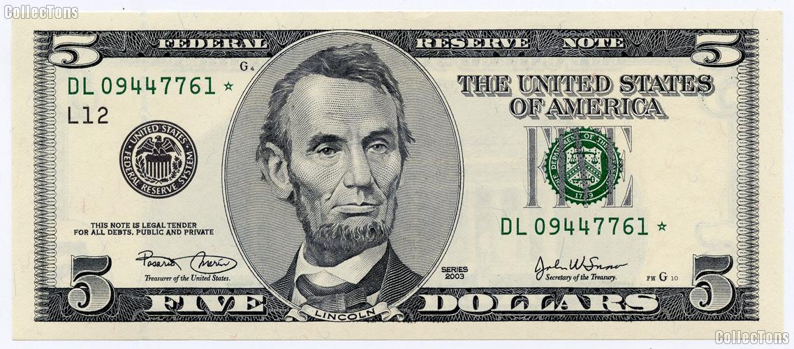 Five dollar bill