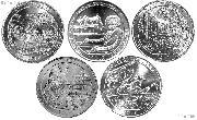 2017 National Park Quarters Complete Set Philadelphia (P) Mint Uncirculated (5 Coins) IA, DC, MO, NJ, IN