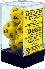 7-Die Set Polyhedral Yellow/Black Opaque Dice by Chessex CHX25402