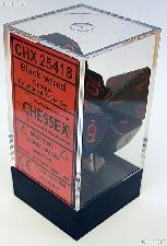 7-Die Set Polyhedral Black/Red Opaque Dice by Chessex CHX25418