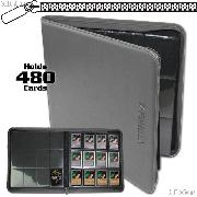 BCW Gaming Z-Folio 12-Pocket LX Album for 480 Cards in Gray