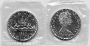 1965 BU Canada Silver Dollar in Original Mint Cello