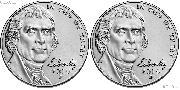 2019 P & D Jefferson Nickels Gem BU (Brilliant Uncirculated)