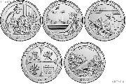 2019 National Park Quarters Complete Set Philadelphia (P) Mint Uncirculated (5 Coins) MA, MP, GU,TX, ID