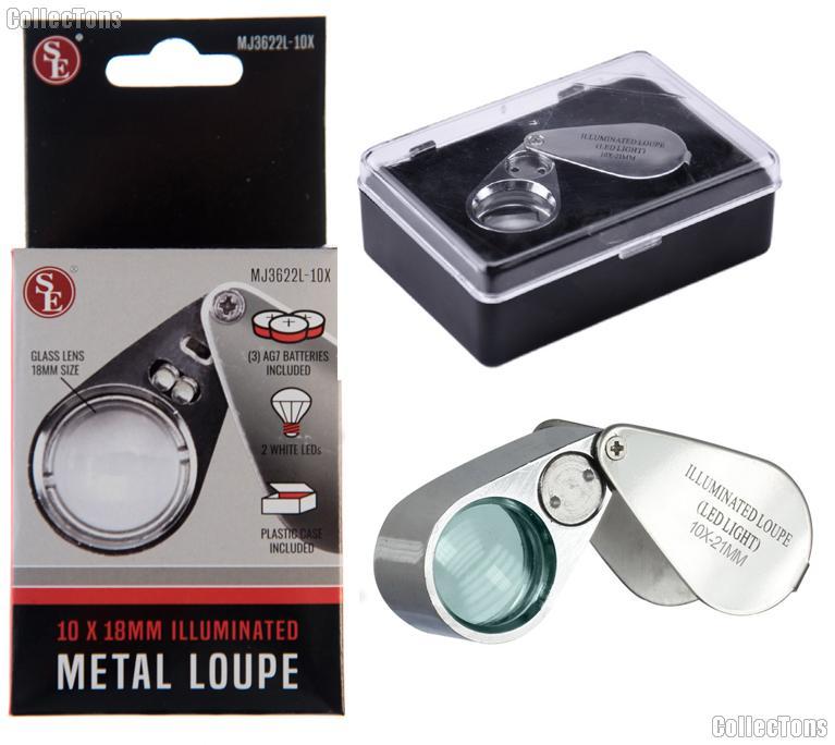 SE 10X Jeweler's Loupe Illuminated Magnifier