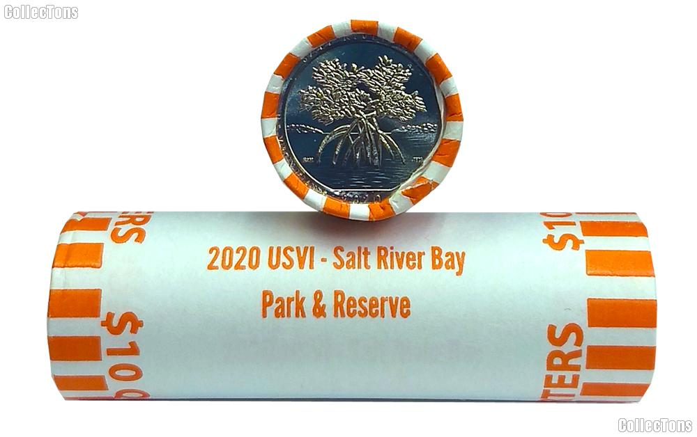 2020-D US Virgin Islands Salt River Bay Park and Preserve National Park Quarter Roll GEM BU America the Beautiful